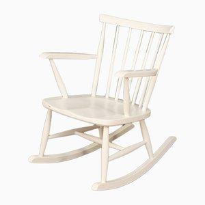 White Rocking Chair, 1960s