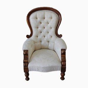 Antiker viktorianischer Armlehnstuhl aus Mahagoni