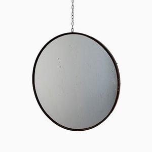 Round Italian Brass Mirror, 1960s