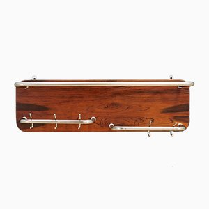 Vintage Rosewood Coat and Hat Rack, 1970s