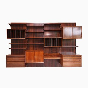 Large Rosewood Wall Unit by Poul Cadovius, 1960s