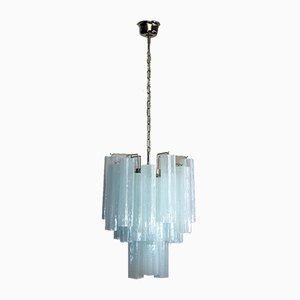 Lampadario tubolare in vetro di Murano, anni '80