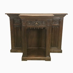 Vintage Oak Church Lectern, 1930s