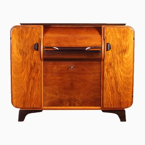 Mid-Century Bar or Record Player Cabinet Jindřich Halabala for Supraphon, 1950s