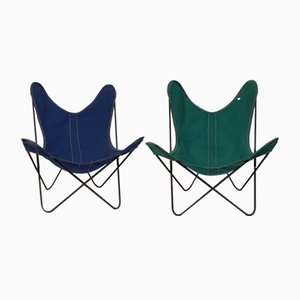AA Butterfly Lounge Chairs by Jorge Hardoy Ferrari for Airborne, 1960s, Set of 2