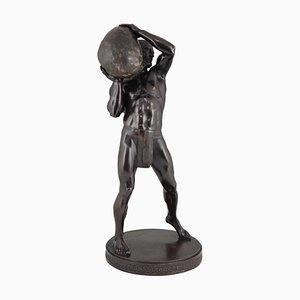 Sculpture Antique en Bronze par Paul Leibküchler pour Gladenbeck Foundry