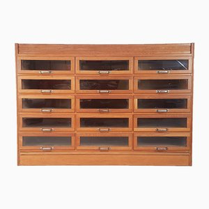 Vintage Oak Haberdashery Shop Counter