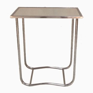 Vintage Chromed Brass Tubular Side Table