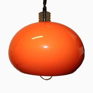Orange Deckenlampe von Fratelli Martini für Martinelli Luce, 1970er