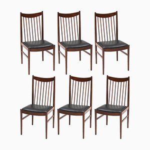Rosewood Dining Chairs by Arne Vodder for Sibast, 1960s, Set of 6