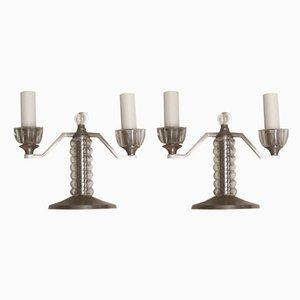 Vintage Tischlampen, 1930er, 2er Set