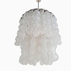 Vintage Italian Cascading Glass Chandelier