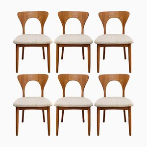 Model Peter Teak Dining Chairs by Niels Koefoed for Koefoeds Hornslet, 1960s, Set of 6