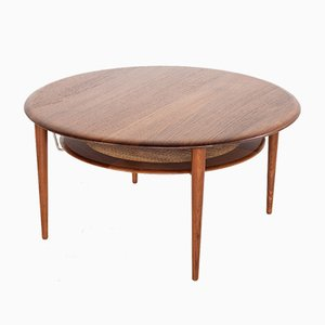 Mid-Century Teak Round Coffee Table by Peter Hvidt & Orla Mølgaard-Nielsen for France & Søn, 1960s