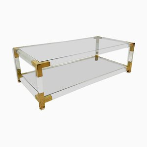 Vintage Glass & Perspex Coffee Table