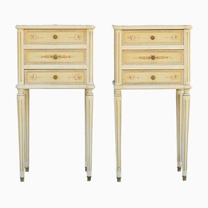 Louis XVI Style French Bedside Cabinets, 1950s, Set of 2