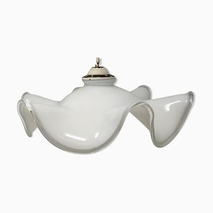 Vintage Opaline Glass Ceiling Lamp