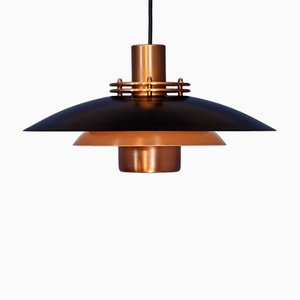 Danish Copper Pendant Lamp from Form Light, 1970s