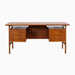 Mid-Century Model 75 Teak Desk from Omann Jun, 1960s
