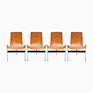 Italian T-Chairs by Katavolos, Kelley and Littell for ICF De Padova, 1952, Set of 4