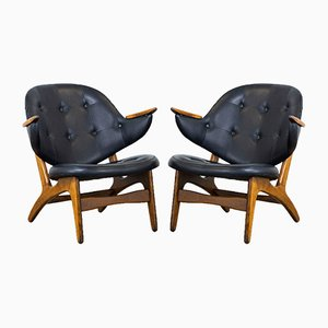 Model 33 Lounge Chairs by Carl Edward Matthes, 1950s, Set of 2