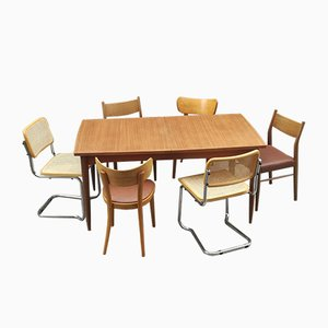 Vintage Teak Table & 6 Dining Chairs Set