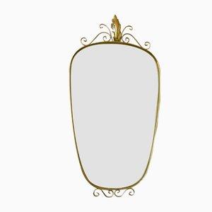 Miroir Vintage Doré, 1950s