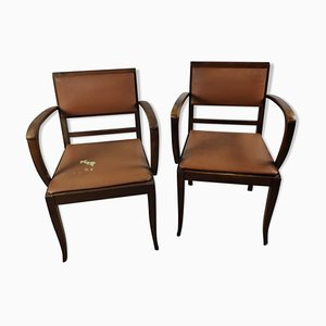 Vintage Bridge Armchairs, Set of 2