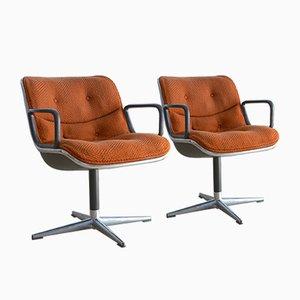Esszimmerstühle von Charles Pollock für Knoll, 1960er, 2er Set