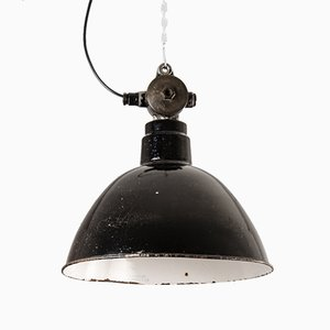 Industrial German Ceiling Lamp from LBL, 1950s