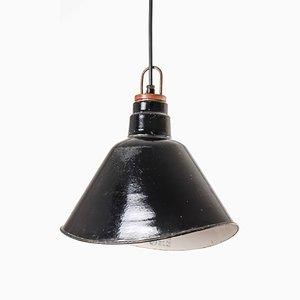 Emaillierte Deckenlampe im Art Déco-Stil von LBL, 1950er