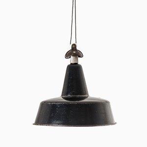 Bauhaus Style Enameled Ceiling Lamp, 1950s