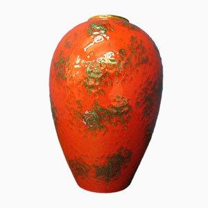 Große rote Mid-Century Fat Lava 849/2 Keramikvase von Ruscha