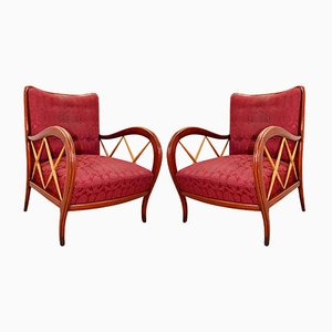 Italian Lounge Chairs by Paolo Buffa, 1950s, Set of 2