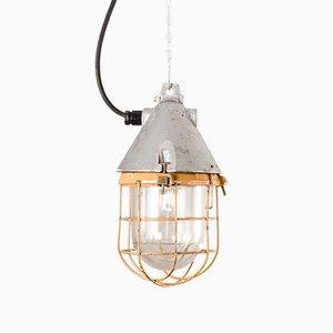 Industrielle deutsche Vintage Deckenlampe, 1950er