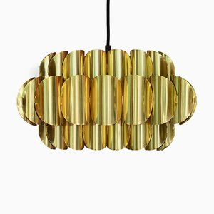 Swedish Brass Pendant Lamp by Thorsten Orrling for Hans-Agne Jakobsson AB Markaryd, 1960s