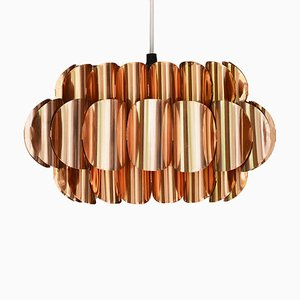 Swedish Copper Pendant Lamp by Thorsten Orrling for Hans-Agne Jakobsson AB Markaryd, 1960s