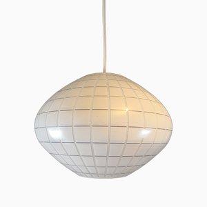 Lámpara de techo alemana de vidrio, años 60