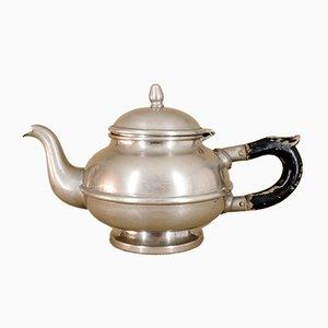 Vernickelte Teekanne von Gebrüder Bing Nürnberg, 1920er