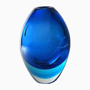 Vintage Sommerso Vase aus Muranoglas