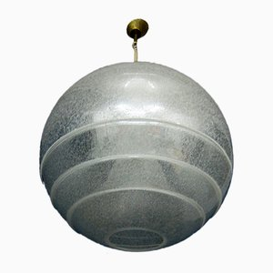 Lampada da soffitto Mid-Century sferica in vetro di Murano di Carlo Nason per Mazzega