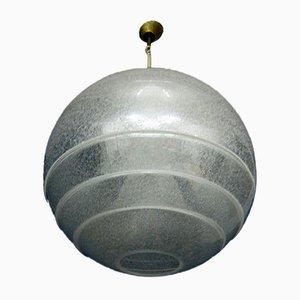 Plafonnier Boule Mid-Century en Verre de Murano par Carlo Nason pour Mazzega