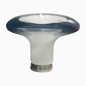 Mid-Century Lesbo Tischlampe aus Glas von Angelo Mangiarotti für Artemide