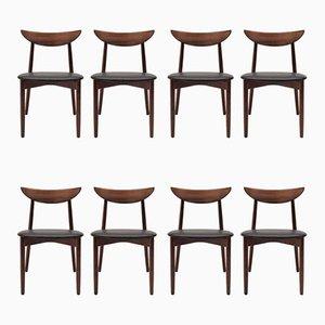 Chaises de Salle à Manger Modèle 58 en Palissandre par Harry Østergaard pour Randers Møbelfabrik, 1960s, Set de 8