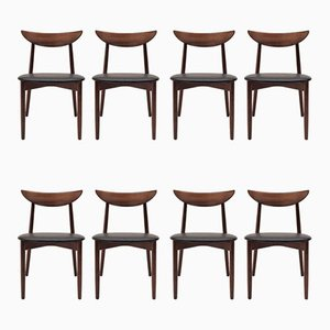 Rosewood Model 58 Dining Chairs by Harry Østergaard for Randers Møbelfabrik, 1960s, Set of 8