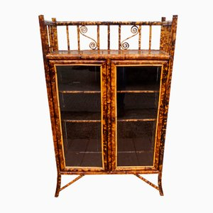Antique Bamboo & Decoupage Bookcase