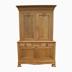 Antique French Oak 2-Part Cupboard