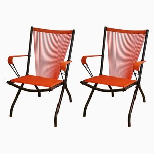 Folding Chairs by André Monpoix, 1950s, Set of 2