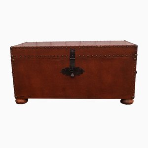 Vintage Faux Leather Coffer