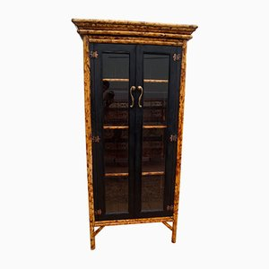 Antique Bamboo Butterfly Bookcase